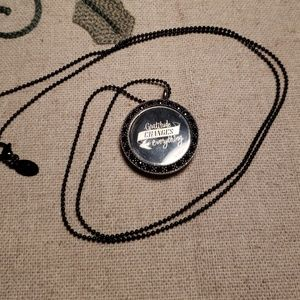 Origami Owl Locket with Chain & Insert Plate